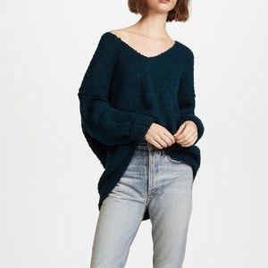 NWT Free People Alpaca Lofty V Neck Sweater S + XS